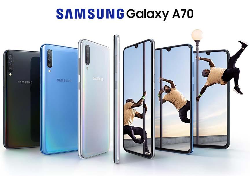 Samsung Galaxy A70, 128GB, Black - eXtra Saudi